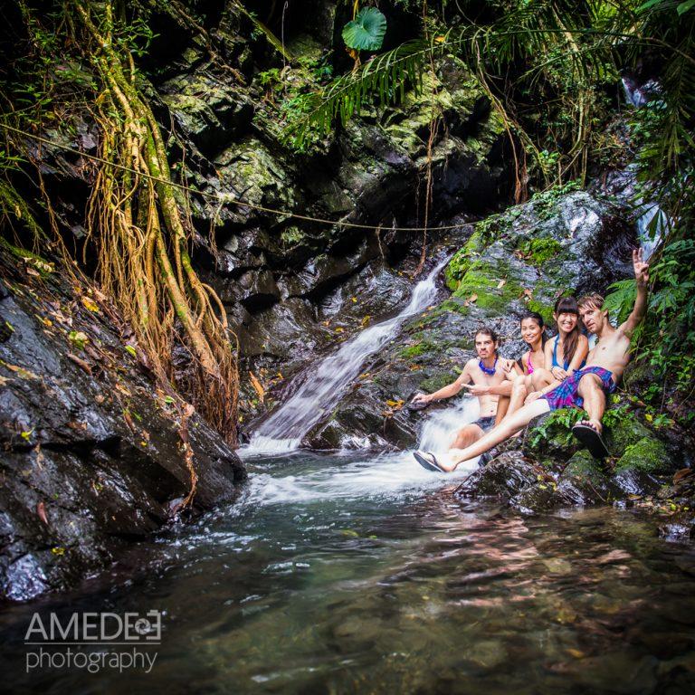 安德和朋友阿亮在茂林瀑布